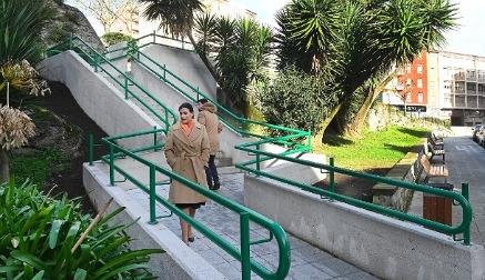 El Parque Recaredo estrena escaleras